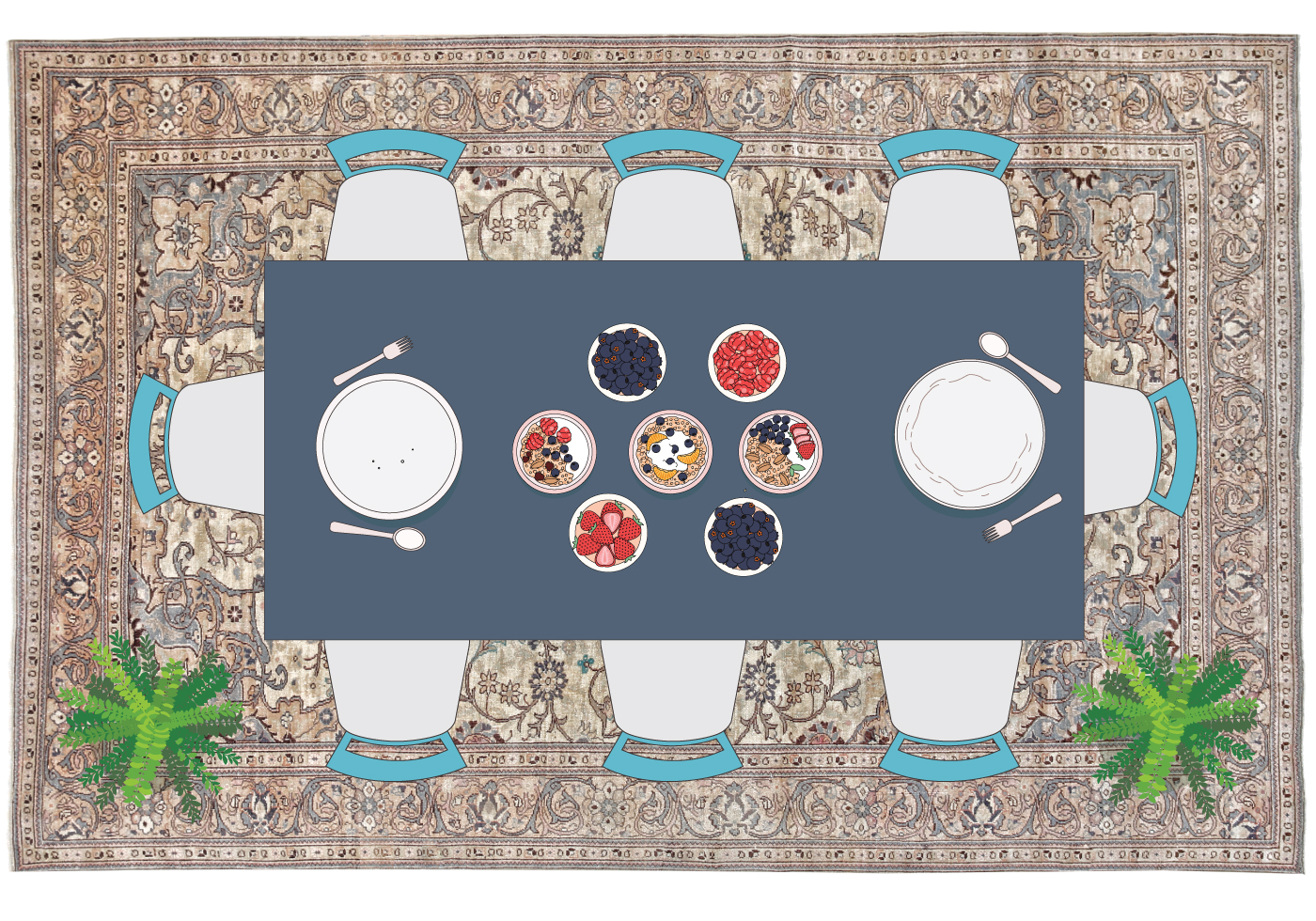 Why Adding A Rug Under Dining Table Sets Is A Must Hasan S Rugs Blog